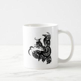 Tribal Wolf Basic White Mug