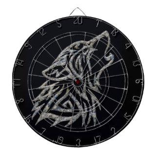 Tribal wolf dartboard