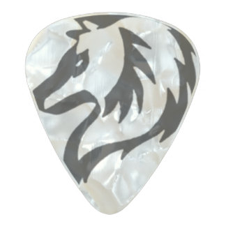 Tribal Wolf Guitar Pick Pearl Celluloid Guitar Pick