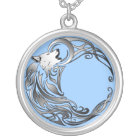 Tribal Wolf - Shaded Silver Plated Necklace