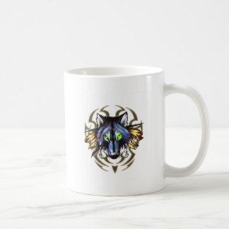 Tribal wolf tattoo design coffee mug