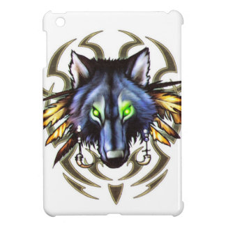 Tribal wolf tattoo design iPad mini cover