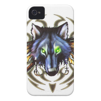 Tribal wolf tattoo design iPhone 4 covers