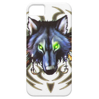 Tribal wolf tattoo design iPhone 5 case