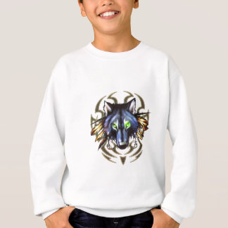 Tribal wolf tattoo design sweatshirt