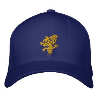 tribal YELLOW  dragon Embroidered Hat