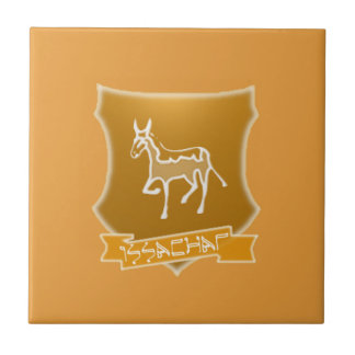 Tribe Issachar Light Brown Ceramic Photo Tile
