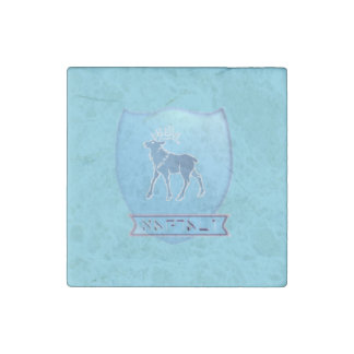 Tribe Naphtali Sky Blue Marble Stone Magnet