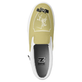 Tribe Of Gad Crest Custom Zipz Slip On Shoes