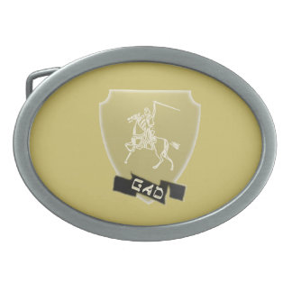 Tribe Of Gad Crest Oval Belt Buckle