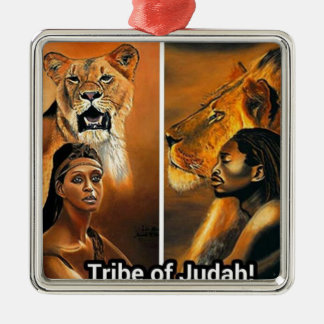 Tribe of Judah Silver-Colored Square Decoration