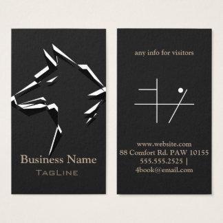 TribeWolf BlackWhite on DarkGrey Business Card