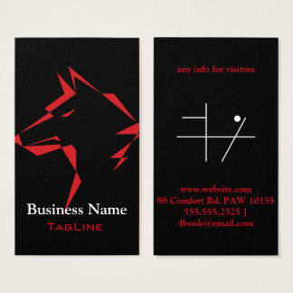 TribeWolf Red on Black Business Card