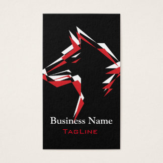 TribeWolf Red+White Business Card