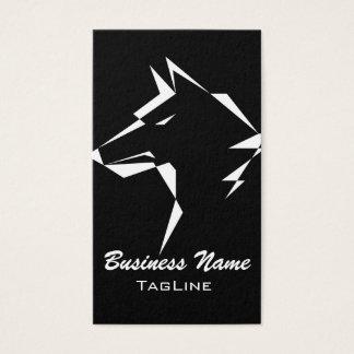 TribeWolf White Business Card