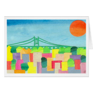 Triborough Bridge at Sunrise Greeting Cards