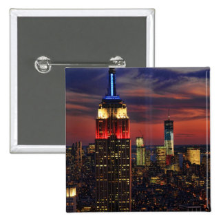 Tribute In Light Sept 11 World Trade Cntr ESB 1 Pinback Button