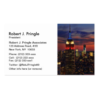 Tribute In Light Sept 11, World Trade Cntr ESB #1 Business Card Template