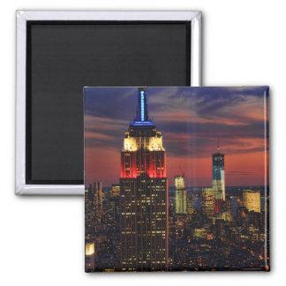 Tribute In Light Sept 11, World Trade Cntr ESB #1 Square Magnet