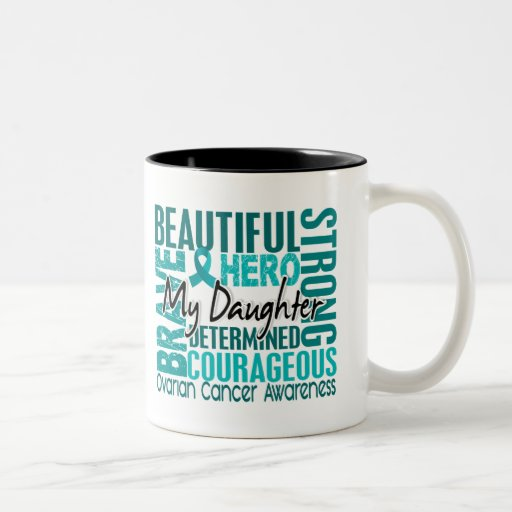 Tribute Square Daughter Ovarian Cancer Coffee Mug