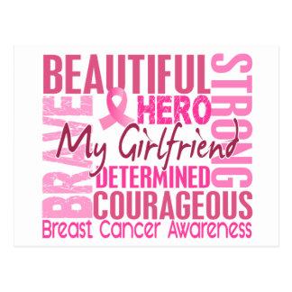 Tribute Square Girlfriend Breast Cancer Postcard