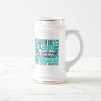 Tribute Square Girlfriend Ovarian Cancer Mugs