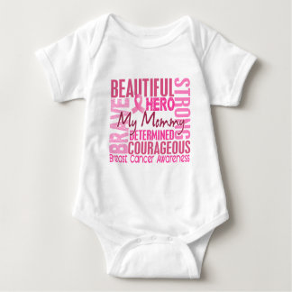 Tribute Square Mommy Breast Cancer Baby Bodysuit