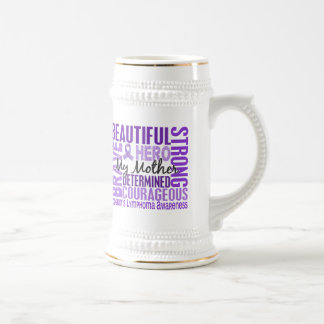 Tribute Square Mother Hodgkins Lymphoma Coffee Mugs