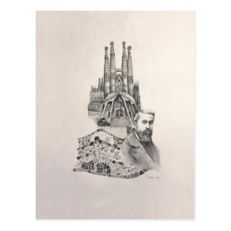 """Tribute to Gaudi"" Postcard"