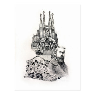 Tribute to Gaudi. Postcard