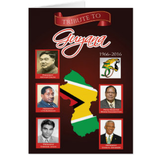 Tribute to Guyana 50th Independence Anniversary Card