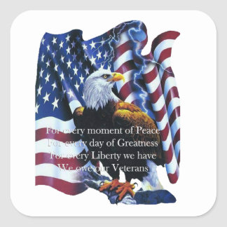 Tribute Veterans Day Stickers
