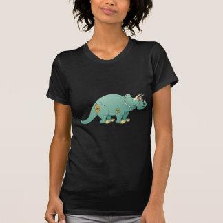Triceratop Aqua Cartoon Shirts