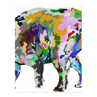 triceratops3 postcard