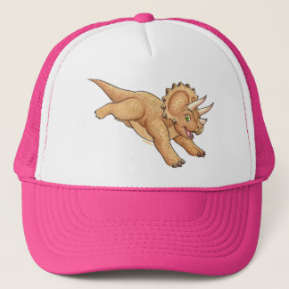 Triceratops cartoon trucker hat