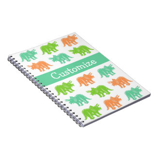Triceratops Colorful Print Customizable Notebook