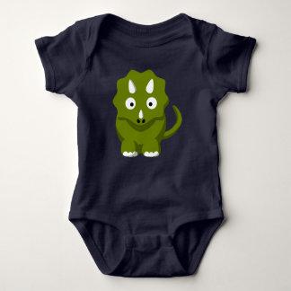 Triceratops Dino Baby Bodysuit