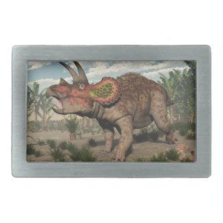Triceratops dinosaur - 3D render Belt Buckle
