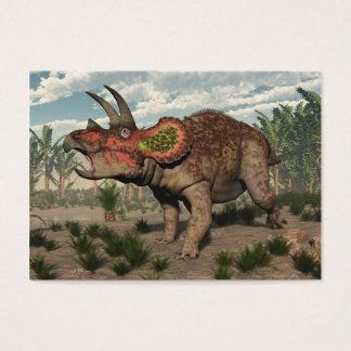 Triceratops dinosaur - 3D render Business Card