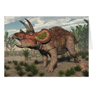 Triceratops dinosaur - 3D render Card