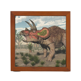 Triceratops dinosaur - 3D render Desk Organiser