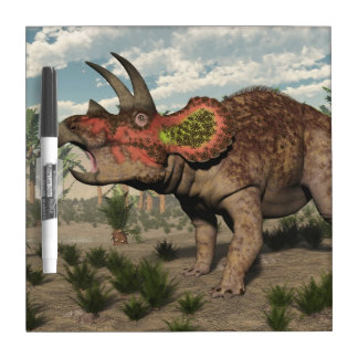 Triceratops dinosaur - 3D render Dry Erase Board