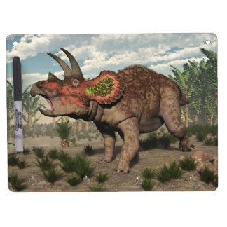 Triceratops dinosaur - 3D render Dry Erase Board With Key Ring Holder
