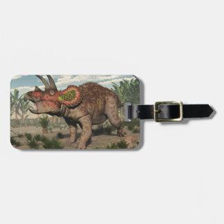 Triceratops dinosaur - 3D render Luggage Tag