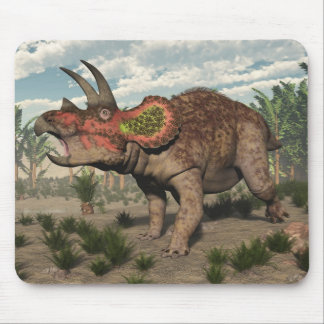 Triceratops dinosaur - 3D render Mouse Pad
