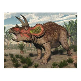 Triceratops dinosaur - 3D render Postcard