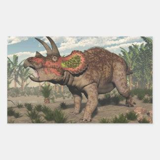 Triceratops dinosaur - 3D render Rectangular Sticker