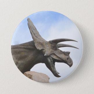 Triceratops Dinosaur 7.5 Cm Round Badge