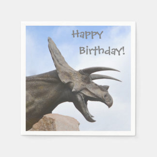 Triceratops Dinosaur Birthday Disposable Napkins