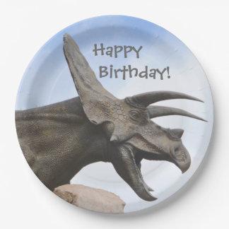 Triceratops Dinosaur Birthday Paper Plate